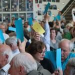 11-DelegiertInnen bei den Wahlen am Sonntagvormittag
