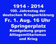Springerplatz, 1. Aug. 16 Uhr