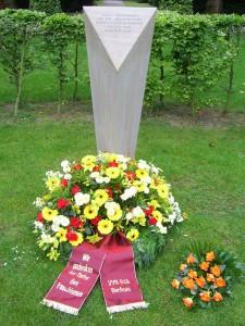 Zum Gedenken an die ermordeten Widerstandskämpfer des Naziregims