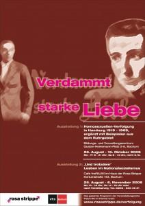 Ausstellungs- und Veranstaltungsreihe zur Homosexuellen-Verfolgung vom 25. August bis 28. November 2009 in Bochum