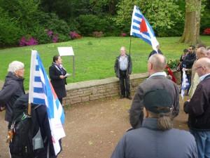 Sevim Dagdelen spricht auf der Gedenkfeier