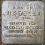 2-Stolperstein für Julius Eversberg an der Hattinger Str. 654b.