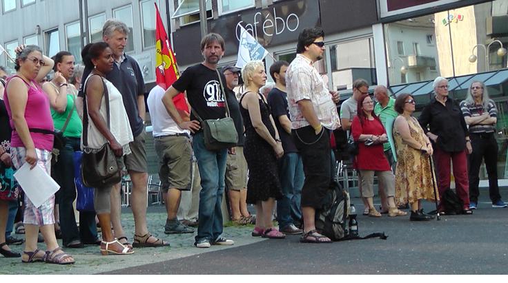 Griechenland-Solidarität am Freitag, den 3.7. auf dem Dr.-Ruer-Platz