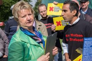 Die Ministerin heute Nachmittag in Bochum