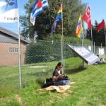 8- Abschlusskundgebung vor der von-Seydlitz-Kaserne