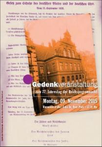 Gedenkveranstaltung am 9. November