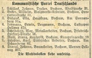 KPD-Liste 1933