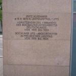 Zustand der Gedenktafel im August 2017