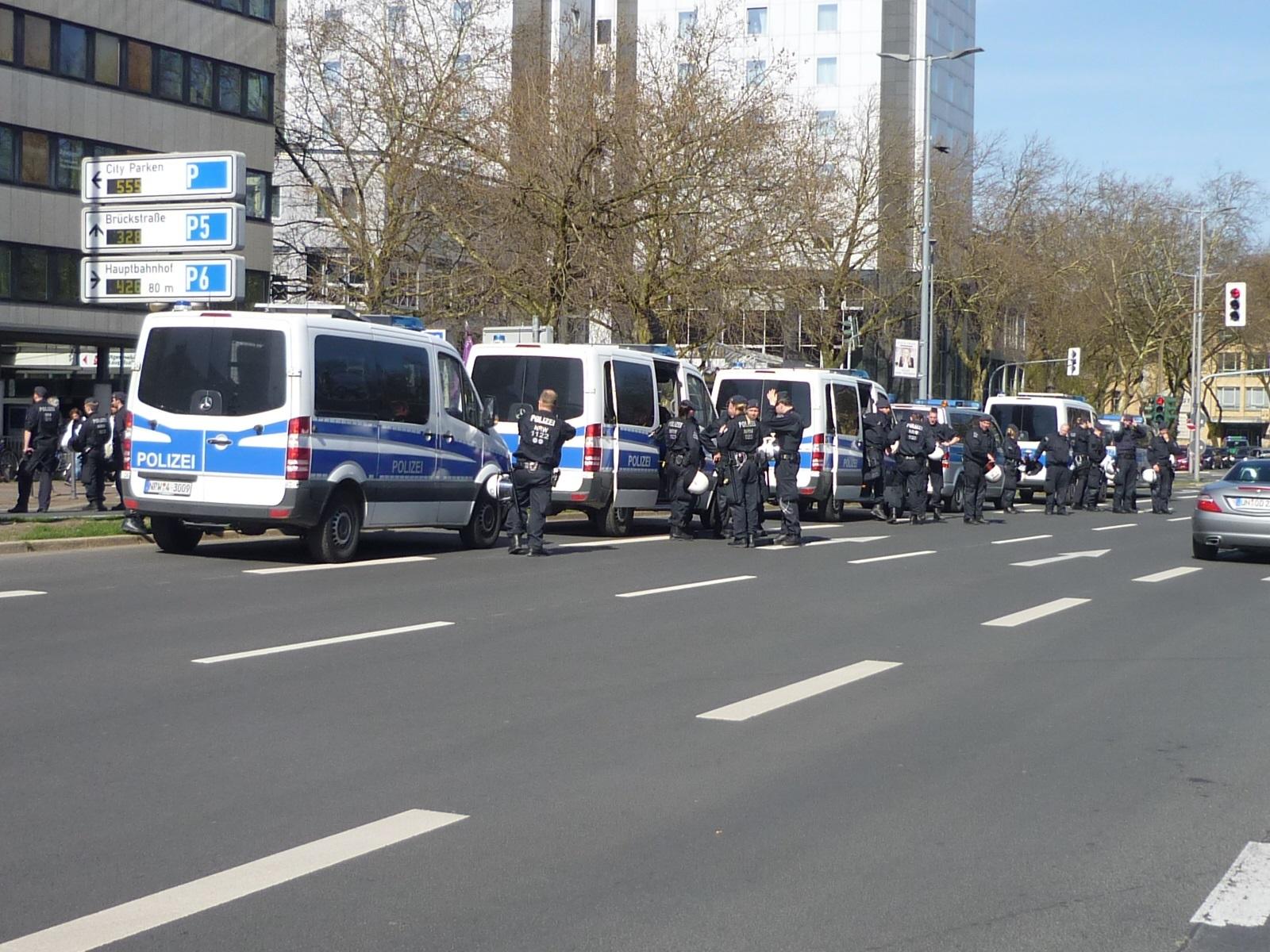 Es war viel Polizei im Einsatz