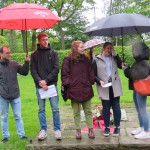 Schüler*innen der Hildegardis- und der Götheschule beim Vortrag