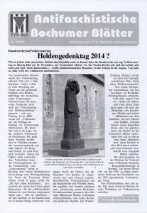 Antifaschistische Bochumer Blätter 3/2014