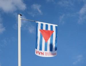 Die VVN-Fahne wehte am Gallus Haus