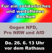 Gegen NPD, Pro NRW und AfD