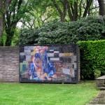 9 - Mosaik im Eingangsbereicht des Friedhofs.