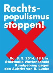 Rechts-Populismus stoppen!