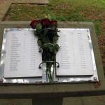 3 - Gräberfeld der sowjetischen ZwangsarbeiterInnen. Namensregister mit Alter und Todesdatum.
