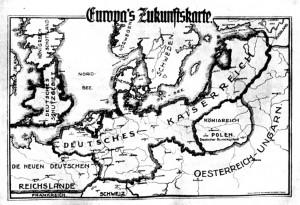 Imperialistische deutsche Ziele:  Zukunftskarte Europa